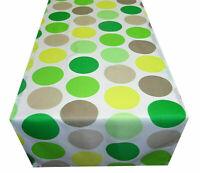 Tischdecke Tischläufer grün weiß gepunktet Punkte modern Stoff 40 x 130 cm