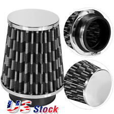 "Universal 3""Inch High Flow Cold Air Short Ram Intake Dry Cone Mesh Filter Black"