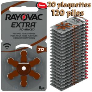 Lot120 Piles Auditive Rayovac 312 PR41 Pour Appareil312AE/A312/DA312/P312/PR312H