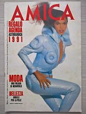 """RIVISTA """"AMICA"""" - SETTIMANALE 1-7 GENNAIO 1991"""