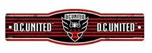"""DC United FC MLS 4""""x17"""" Plastic Street Sign"""