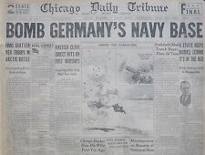 12-1939 WWII December 4 BRITAIN BOMB GERMANY'S NAVY BASE FINNS ARCTIC RUTH JUDD