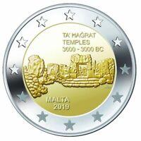 MALTA Ta' Ħaġrat Temples - 2 Euro Commemorative Coin - 2019 Issue UNC - RARE