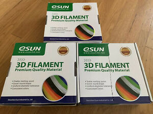3x ESUN 3D Filament Blue 1.75mm 3D Printer 1KG Spool