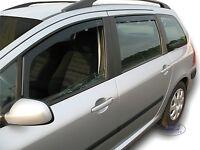 PEUGEOT 307 2001-2007 5 portes break Deflecteurs d'air Déflecteurs de vent 4pcs