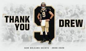 New Orleans Saints 3x5 Flag Man Cave Flag 3 x 5 Banner Thank You Drew USA New