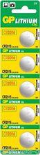 5 GP 2016 Batteries Lithium Button CR2016 / DL2016 Coin Batteries 5 Pack