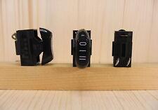 Interruttore a bilanciere 3 posizioni per phon fono asciugacapelli colore nero