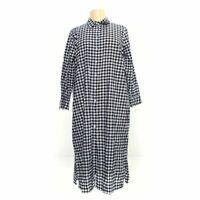 Signature Collection Women's Dress size XL,  blue/navy, white,  linen, cotton