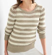Gap Women`s Stripe Open Knit Sweater XXL - 2XL Top Msrp $50 NWT