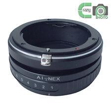 AI-NEX Tilt Lens Adapter for Nikon Ai Mount Lens to Sony NEX 7 A7R 3 5N Camera