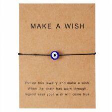 Hot Blue Evil Eyes Paper Card Bracelet Handmade Bangle Charm Women Jewelry Gift