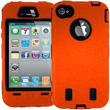 Duro a prueba de golpes caso Naranja cubrir para Apple Iphone 4 4s 4g Con Protector De Pantalla