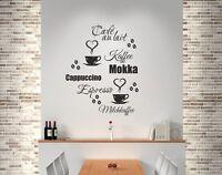 Wandaufkleber Wandtattoo Küche Bad Wohnzimmer Kaffee 20 Stück Mokka Café 338