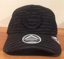 YUMS Jersey Striped Curved Brim Snapback Cap Hat  Black