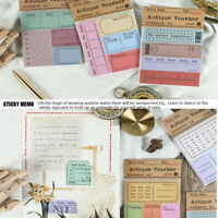 30 Sheets Antique Ticket Sticky Notes Stationery Paper Memo Pad Office Supplies