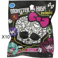 Monster High Minis Figures Blind Bags Lot of 10 Series 1 Sealed