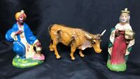 Vintage 3 Piece Christmas Nativity Decoration Figures made in Italy