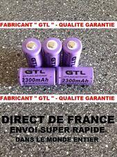5 Piles 16340 3.7V 2300mAh Rechargeable Mignon - GTL - TRES PUISSANT - DE FRANCE