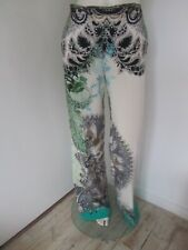 New Etro Paisley Print Silk Trousers with Elasticated Waist - 42 Italy