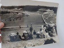 GOODWOOD RACECOURSE CIRC WW1 orig large authentic photograph racehorse racing