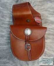 MEDIUM OIL Top Grain Leather Western Saddle Bag by Showman! NEW HORSE TACK!!!