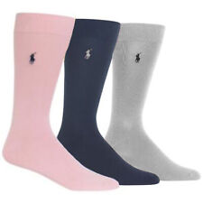 NEW Genuine RALPH LAUREN Super-Soft Dress Socks (3 PACK) Fits Mens UK Size 6-12