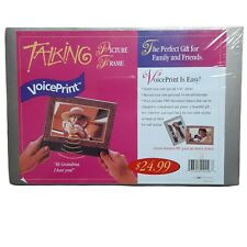 Voice Print Talking Picture Frame For 4x6 Photo Record Your Own Message New