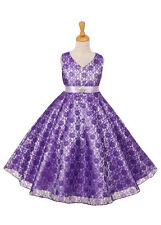 New Flower Girls Lace Dress Wedding Pageant Birthday Formal Party Easter 6380