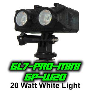 Ghost Light™ GL7-PRO-MINI-GPW20 20 Watt LED White Light for GoPro Camera & Video
