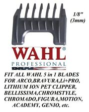 "Wahl 1/8"" (3mm) Attachment GUIDE 5 in 1 Blade COMB-Arco,Chromado,Bravura Clipper"