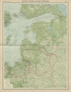 Baltic states. East Prussia. Unresolved borders. Estonia Latvia. TIMES 1922 map