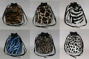Animal Print Faux Fur Bag Dalmation / Tiger / Leopard Dolly Evening Handbag