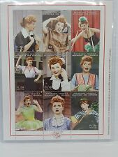 """I Love Lucy Stamps Sheet """"Best of Lucy"""" Comoros Islands COA"""