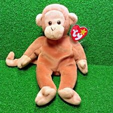 Retired Ty Beanie Baby Bongo The Monkey 1995 Rare PVC Pellets With Errors MWMT