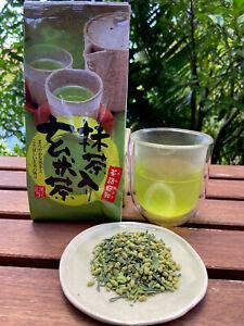 Japanese Green Tea Genmaicha with Matcha powder Produced in Japan