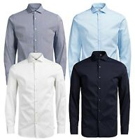 JACK & JONES Classic Premium Long Sleeve Shirt Men Slim Smart Business Shirt