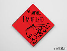 Whatever I'm Retired / Diamond Red - Wall Clock