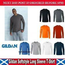 Gildan Cotton Long Sleeve T-Shirts for Men