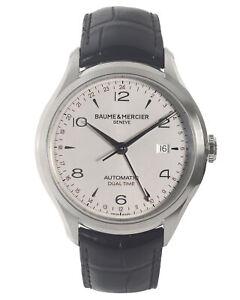 BAUME & MERCIER CLIFTON DUAL TIME AUTOMATIC MEN'S WATCH MOA10112, MSRP: $3,450