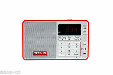 Tecsun Q3 (RED) FM Radio with MP3 player and Recorder    << NO BATTERY >>