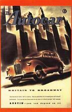 Postcard Nostalgia 1948 AUTOCAR Cover The New AUSTIN A40 Reproduction Card