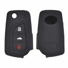 3 Button Silicone Key Cover Case For Toyota Auris Avensis Yaris Aygo Scion TC