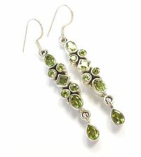 PERIDOT GEMSTONE 925 STERLING SILVER EARRINGS STAMPED PRINCESS OVAL ROUND CUT