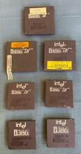 Mixed Lot of 7 Intel Chips, CPU's, Display, Scrap, Gold Recovery