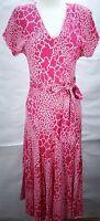 Vintage Diane Von Furstenberg Dress V-neck Flare Short Sleeve Size S