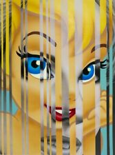 "SCOTT ROHLFS Original Acrylic painting on wood ""Shine The Light On Me"" POP ART"