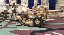 KING & COUNTRY EA004 BRITISH 8TH ARMY 25LB Medium Field Gun & Crew (2004)RETIRED