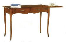 Scrivania Scrittoio classico in arte povera legno massello con cassetti