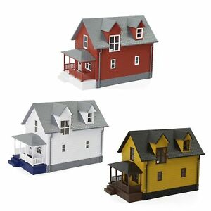 3pcs Different N Scale 1:160 Model House Building Kit Architectural Diorama